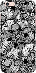DailyObjects Floral Black Hand Drawn Lace
