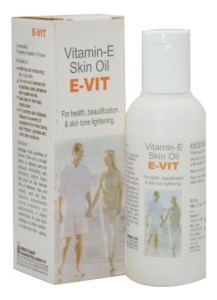 Evit vitamin E skin oil for skin tone lightening
