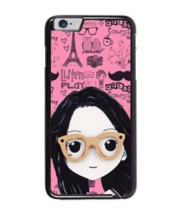 Fuson Specs Girl Back Case Cover for Apple iPhone 6