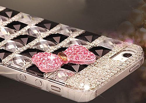Hundromi Extreme Deluxe Bling Diamante Bow Skin Case Cover