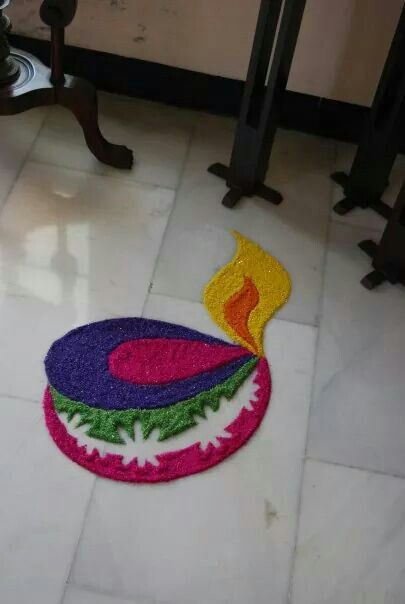 Innovative diya rangoli
