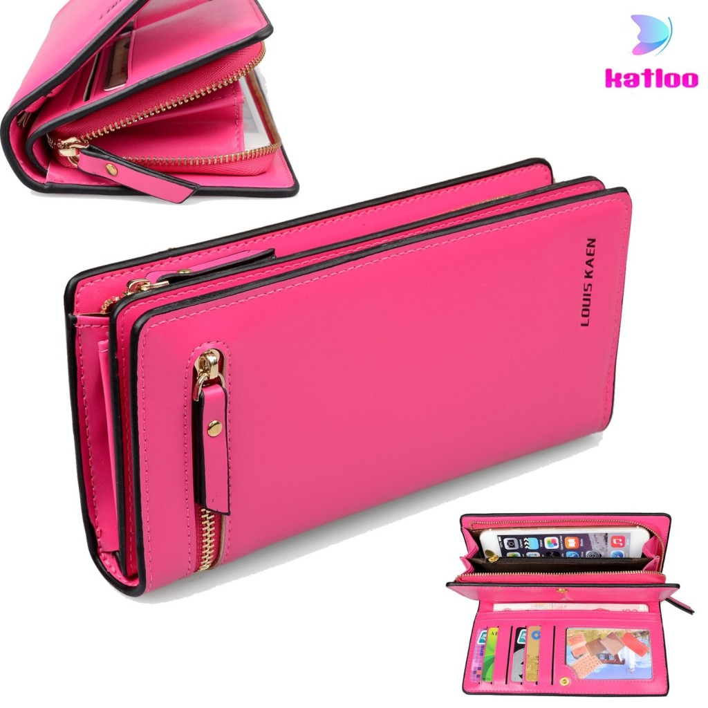 Katloo Women PU Leather Horizontal Cellphone Wallet Clutch Case