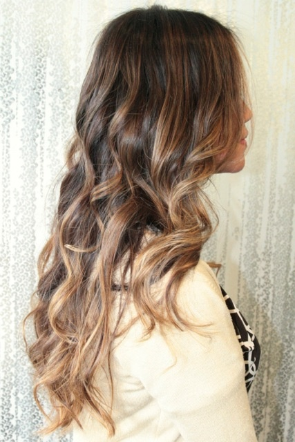 Magical curls with highlights