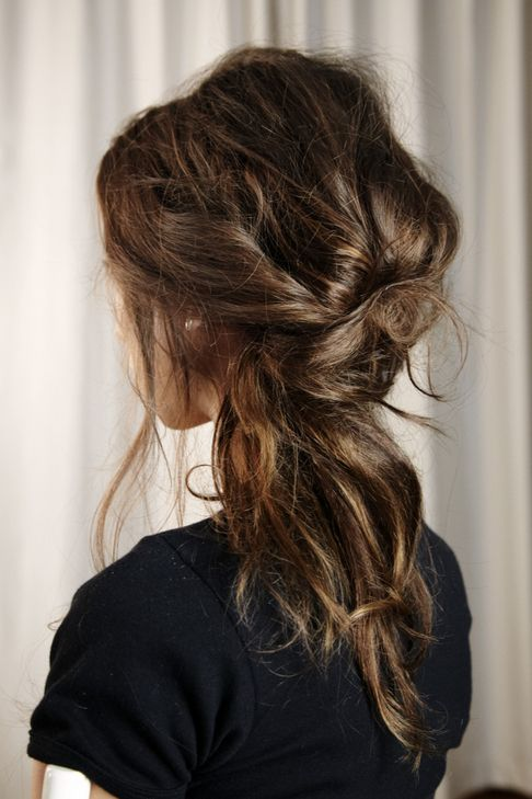 Messy knot with highlights