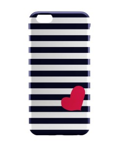 PosterGuy Love Strip Pattern(Blue) Graphic Design iPhone 6 Case