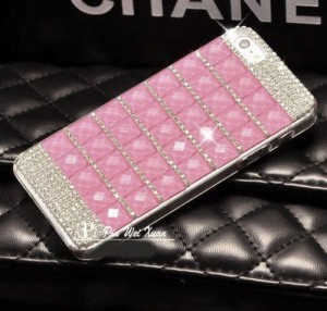 Purple Iphone 6 Fancy Cover Case Crystal Bling Mobile Cover For Girls