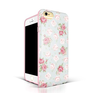 Retro Floral Pattern Soft Back Cover for iPhone 6