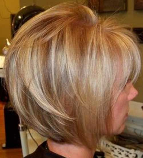 Short bob with lowlights