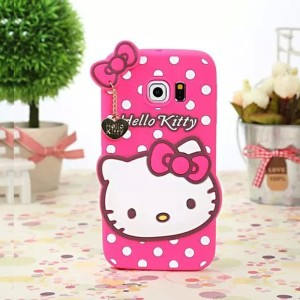 Silicone With Pendant Back Case Cover For Samsung Galaxy S6 Edge
