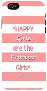 Snoogg Happy Girls Are the Prettiest Girls Case Cover For Apple iphone 6
