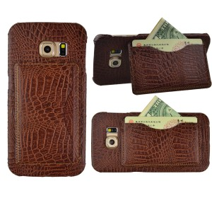 SumacLife Crocodile Wallet Case Cover for Samsung Galaxy S6 Edge