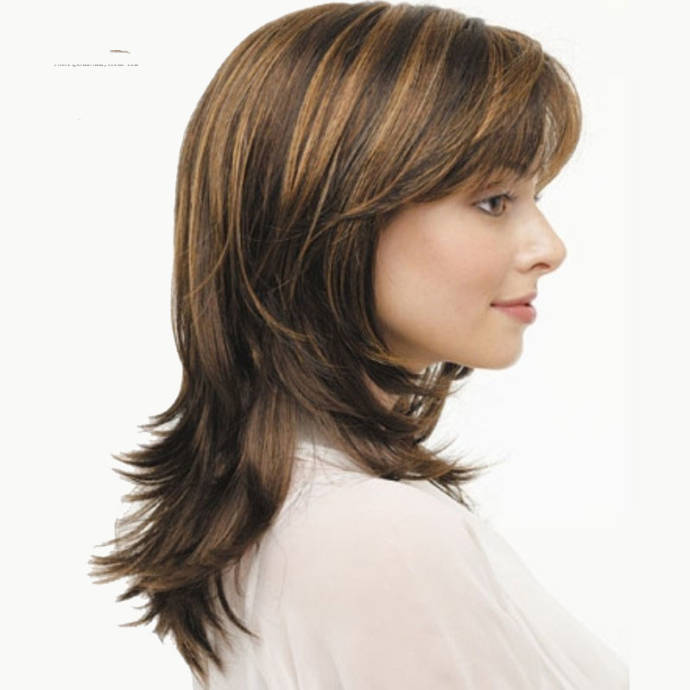 Long & Medium Length Brown Hair With Blonde Highlights To