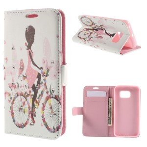 Wallet Leather Flip Cover with Stand Shell for Samsung Galaxy S6 edge