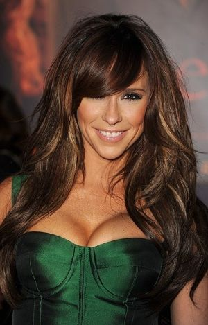 Long medium length brown hair with blonde highlights to add to the pretty lady looks absolutely amazing with the brown hair with gold highlights the attractive lady will look much more attractive with this particular pmusecretfo Images