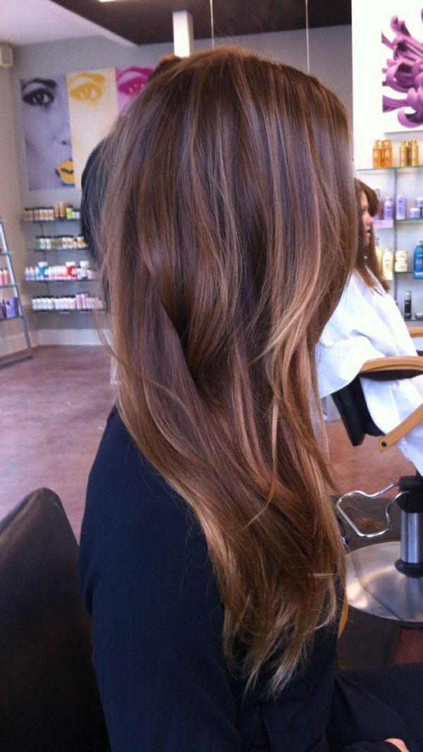 Best Ideas Fabulous Long Dark Brown Hair With Blonde Highlights