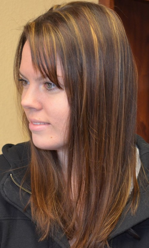 Medium Brown Hair With Blonde Highlights And Lowlights