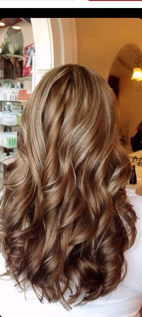 Best ideas fabulous long dark brown hair with blonde highlights golden brown shade with slight highlight pmusecretfo Image collections