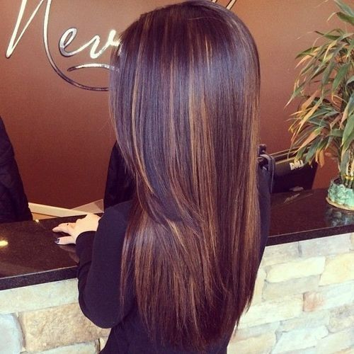 straight hair with black
