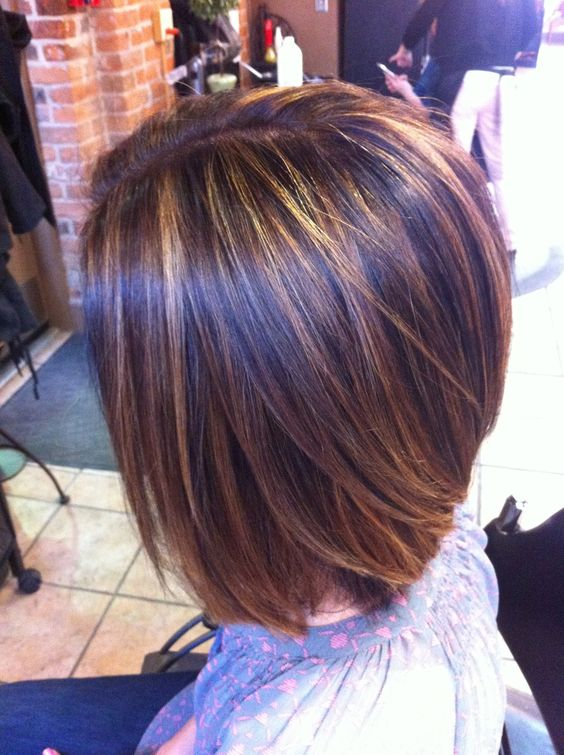 Short length hair highlights with caramel color streaky caramel full length highlights on brunette hairs 5593d4b2c35d54ab4b741357cdeaa3ce dark brown hairstyles with plum highlights pmusecretfo Gallery