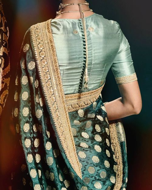 Air hostess silk blouse by Sabyasachi