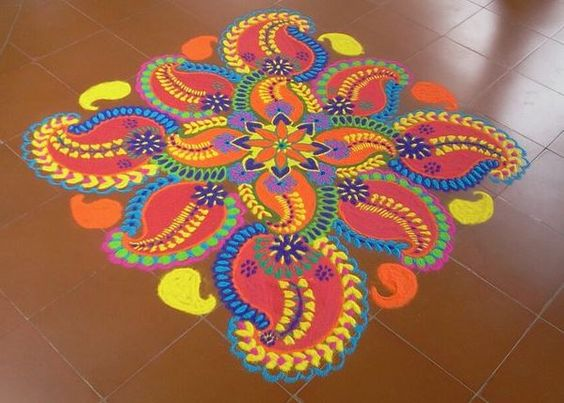 Beautiful and colorful holi design