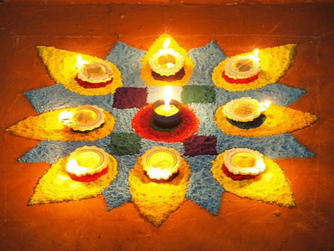 blue-and-yellow-floral-shaped-easy-rangoli