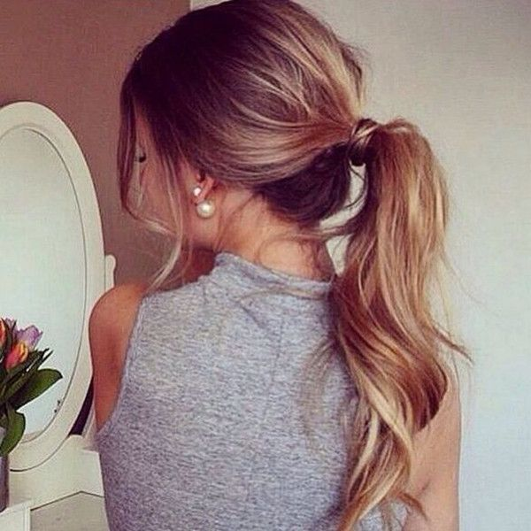 Casual messy ponytail