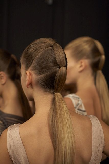 Cinched ponytail