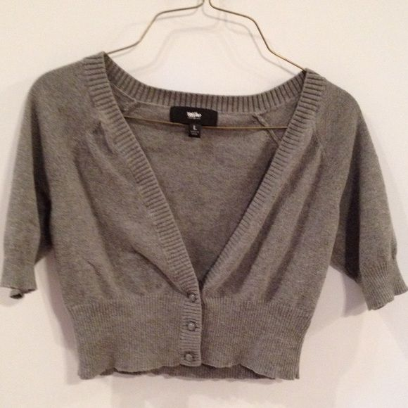 Cropped Cardigan, Gray Shrug