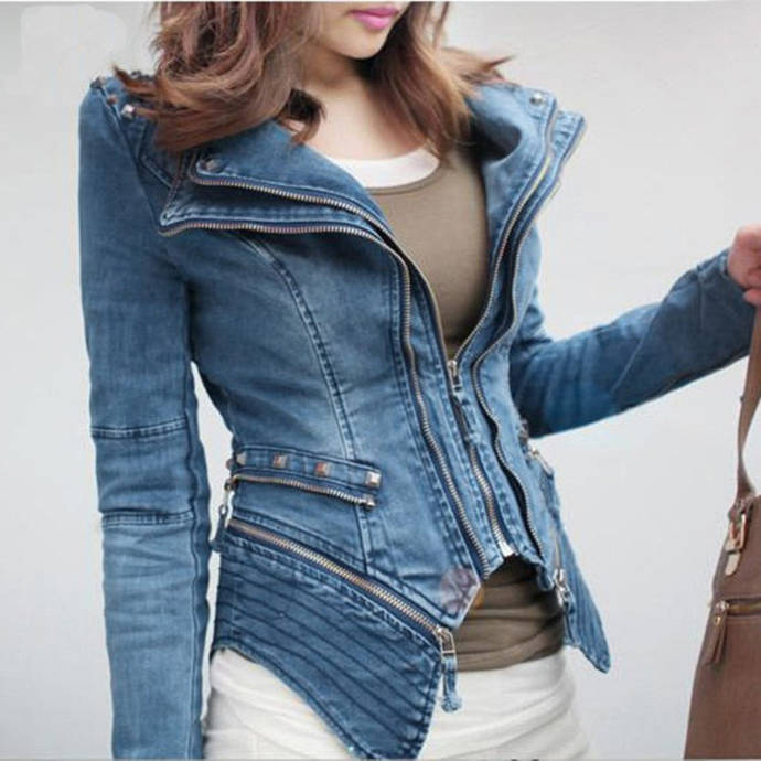 Denim jacket shrug
