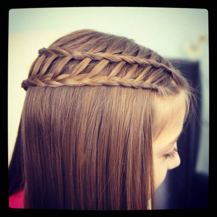 Dual waterfall braid