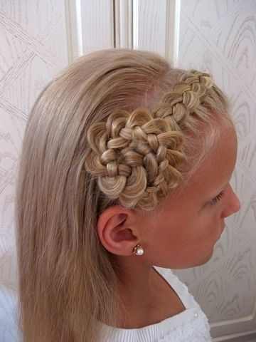 Flower braid waterfall style