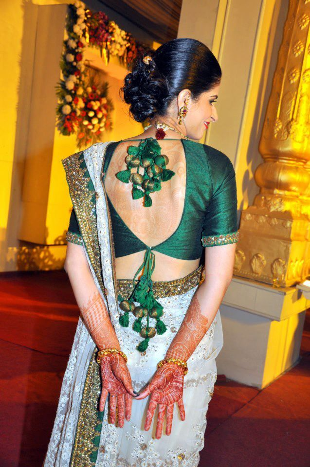 Full sleeve backless Sabyasachi blouse