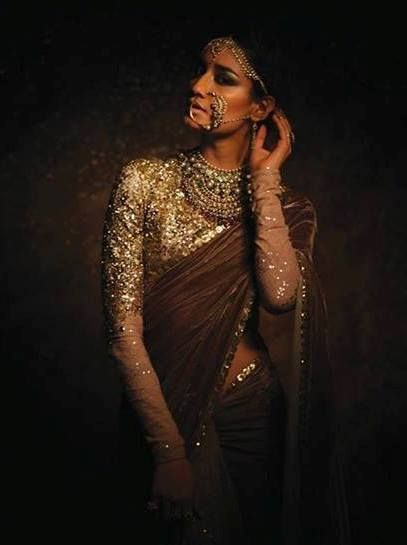 Gorgeous Sabyasachi blouse with sequin work