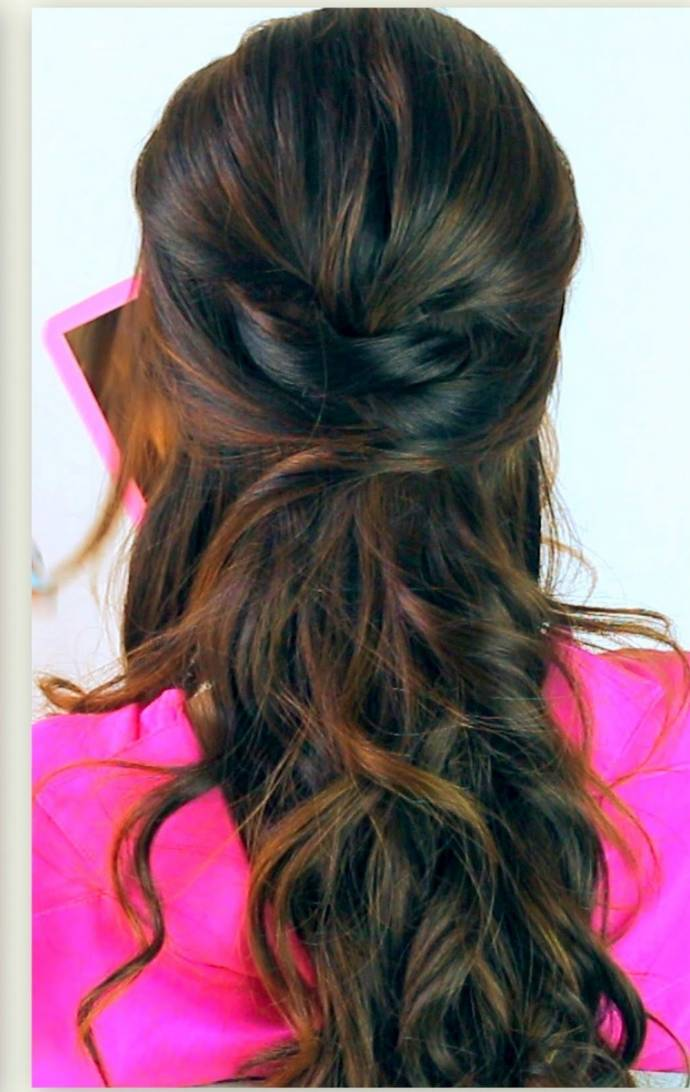 Half up twist pony tail