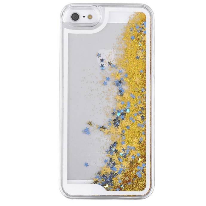 Kapa Glitter Stars Flowing Liquid Transparent Hard Back Case Cover