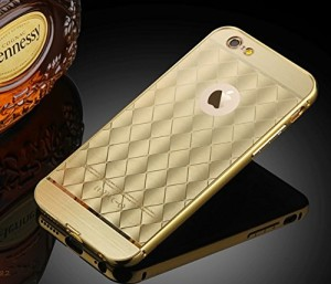 Kapa Luxury Rhombus Pattern Case Cover in Gold