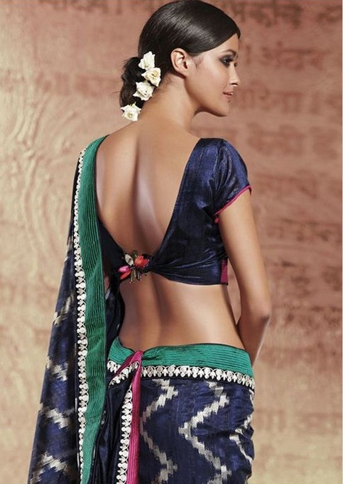 Knotted low back blouse design
