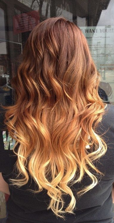 Layer cut with Ombre hairstyle