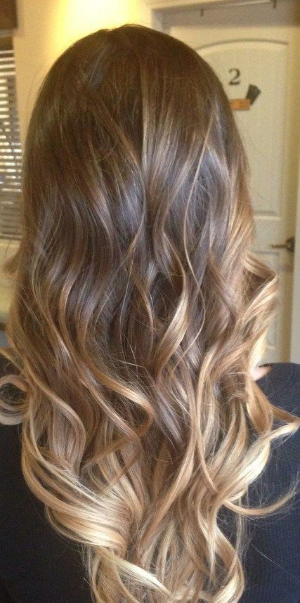 Long Ombre hairstyle with waves