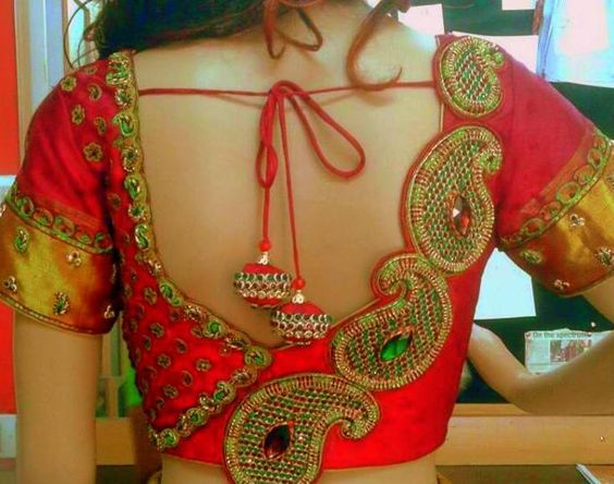 Low back blouse asymmetrical design on sides