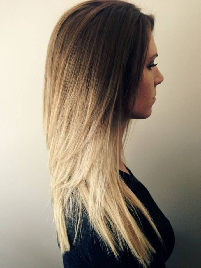 Medium length Ombre hairstyle