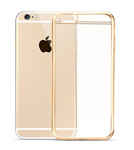 Meephone TPU Flexible Back Case Cover in gold