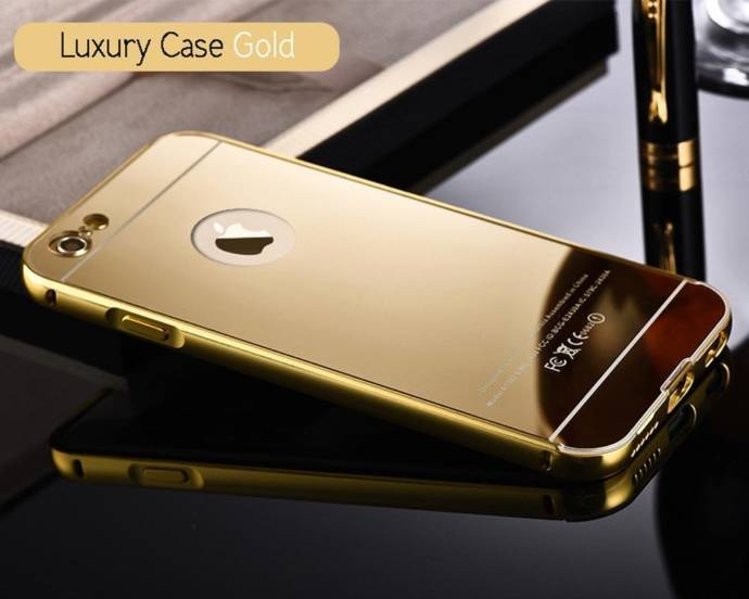Norby Luxury Metal Bumper Acrylic Mirror Back Cover Case