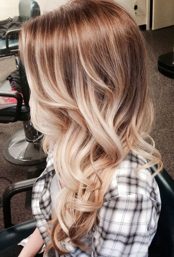 Ombre curls with locks