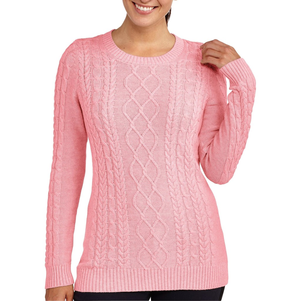 Pink knitting shrug