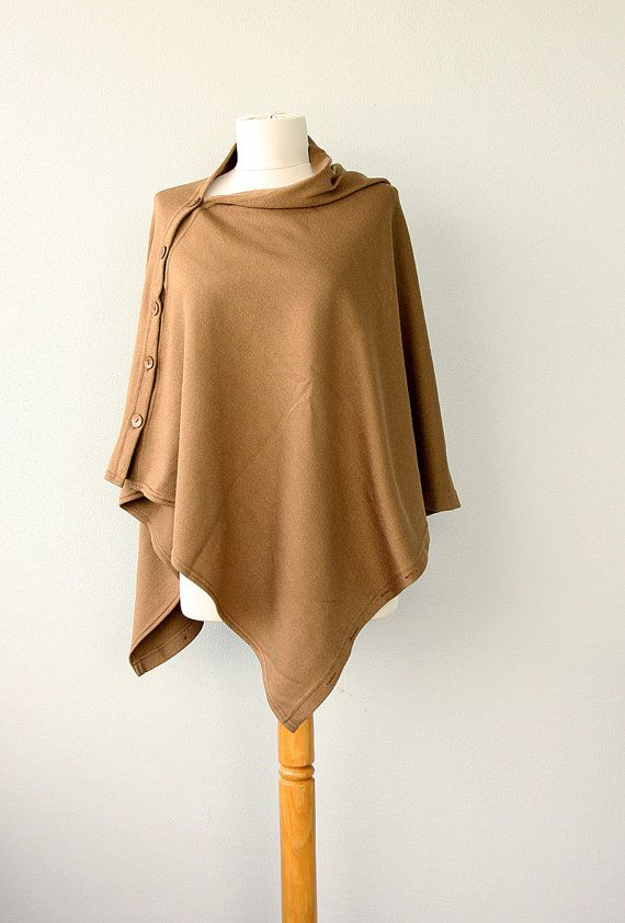 Poncho Convertible Shrug with Buttons