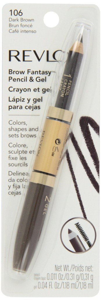 Revlon brow fantasy pencil and gel, dark brown