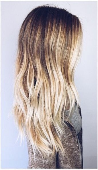 Slight wave ombre hairstyle