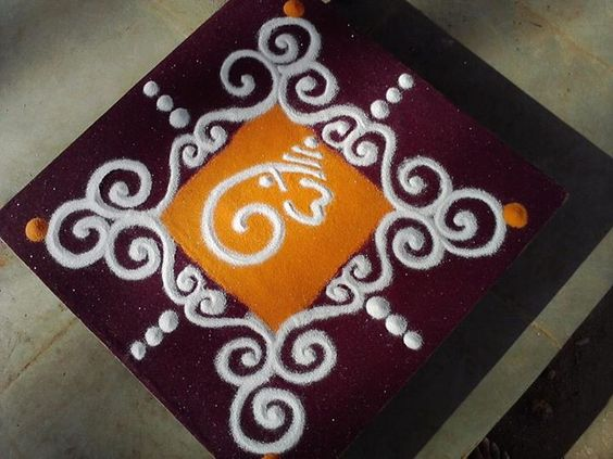 Small Ganesh face with designs
